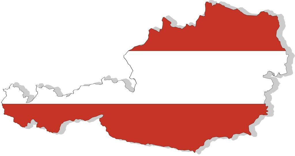 Oesterreich-Tipps - Landkarte in Rot-Weiss-Rot