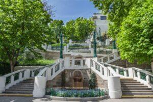 Wien - 9. Bezirk-Alsergrund - Strudelhofstiege, architektonisch bemerkenswerte Stiegenanlage