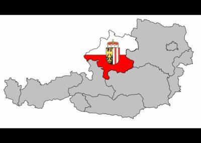 Bild zeigt: Oberösterreich auf Österreichkarte