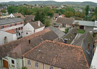 Burgenland - Breitenbrunn - Stadtansicht von oben