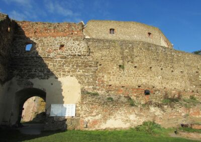 Burgenland - Güssing - Burgmauer Burg Güssing