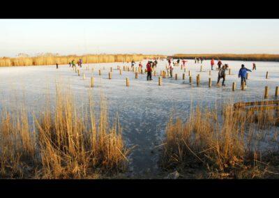 Burgenland - Der Neusiedler See ist auch größter Eislaufplatz Europas