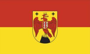 Die Burgenland-Fahne mit Wappen
