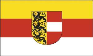 Die Kärnten Fahne mit Wappen