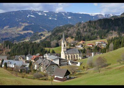 Kärnten - Arriach - Stadtbild mit evangelischer Kirche