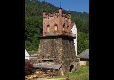 Kärnten - Frantschach - St. Gertraud, historischer Hochofen