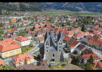 Kärnten - Friesach - Blick auf die Gemeinde