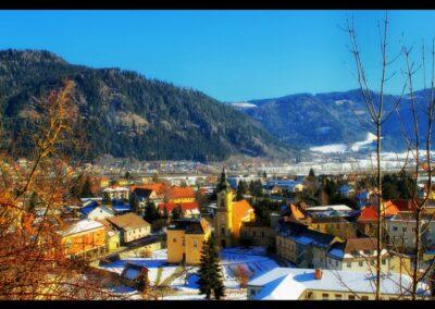 Kärnten - Friesach - Winter in der Gemeinde Friesach