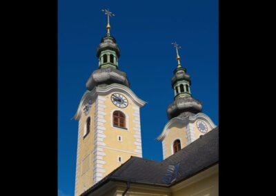 Kärnten - Maria Rain - Kirchtürme der Pfarr- und Wallfahrtskirche
