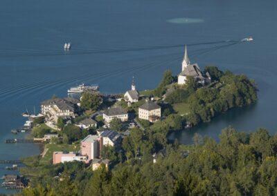 Kärnten - Maria Wörth - die Halbinsel Maria Wörth
