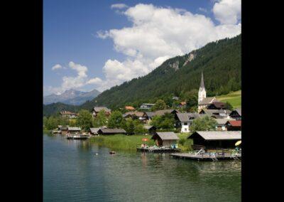 Kärnten - Techendorf - Hauptort der Gemeinde Weißensee