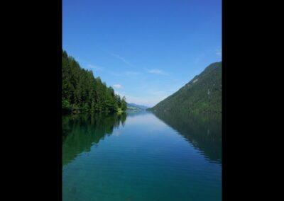 Kärnten - Weißensee am Fuß der Gailtaler Alpen