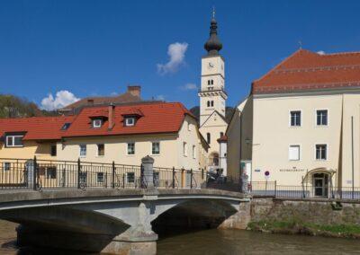 Kärnten - Wolfsberg mit Radlstegbrücke