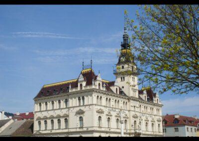Niederösterreich - Laa an der Thaya - Rathaus bzw. Gemeindeamt im Neorenaissance Stil