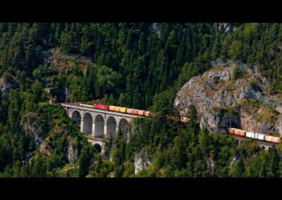 Niederösterreich - Semmering Bahn - Frachtzug