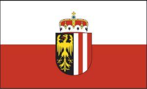 Oberösterreich Fahne mit Wappen