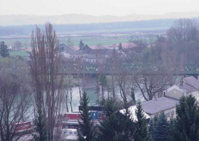 Oberösterreich - Enns - Blick auf diw Ennsbrücke