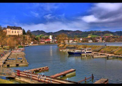 Oberösterreich - Grein - Blick au die Stadtgemeinde