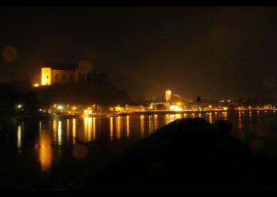 Oberösterreich - Grein - Stadtgemeinde bei Nacht