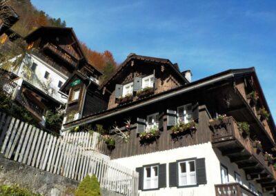 Oberösterreich - Hallstatt - Häuser der Marktgemeinde