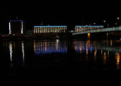 Oberösterreich - Linz - Donaubrücke bei Nacht