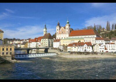 Oberösterreich - Steyr - Stadt mit dem Fluß Enns