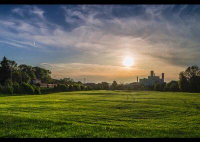 Oberösterreich - Timelkam - Sonnenuntergang in Timelkam