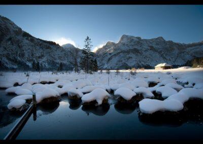 Oberösterreich - Winter am Almsee