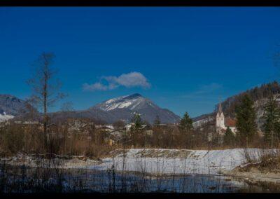 Sbg - Adnet - Winterlandschaft mit Pfarrkirche