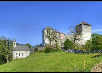 Sbg - Kaprun - Burgruine mit Burgkapelle Hl. Jakob