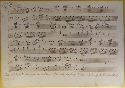 Sbg - Notenblatt von Leopold Mozart (Vater von Wolfgang Amadeus Mozart)