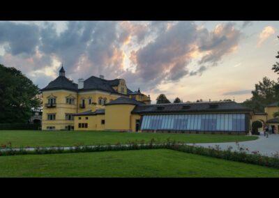Sbg - Salzburg - Abenddämmerung über Schloss Hellbrunn