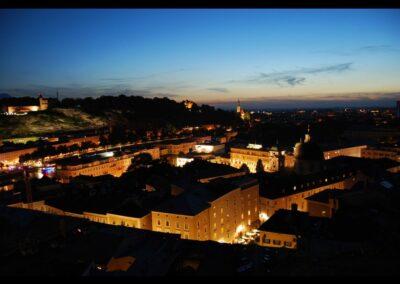Sbg - Salzburg - Abendstimmung in der Stadt