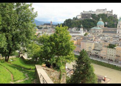 Sbg - Salzburg - Blick auf die Festung Hohensalzburg 2