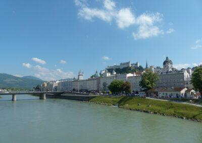 Sbg - Salzburg - Blick auf die Festung Hohensalzburg