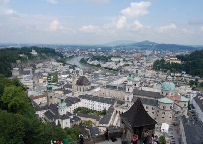 Sbg - Salzburg - Blick auf die Stadt 2