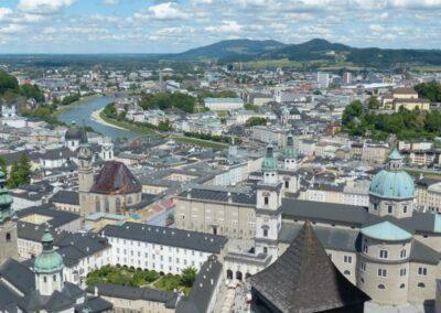 Sbg - Salzburg - Blick auf die historische Altstadt