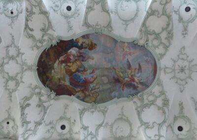 Sbg - Salzburg - Deckengemälde der Stiftskirche St. Peter