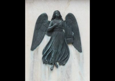 Sbg - Salzburg - Engel am Mozartdenkmal