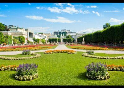 Sbg - Salzburg - Garten vom Schloss Mirabell