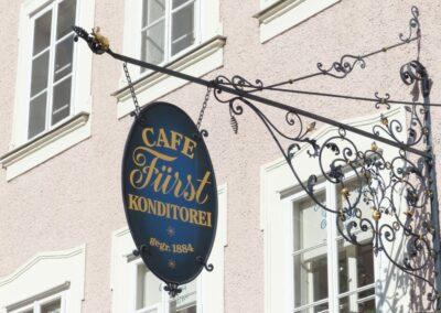 Sbg - Salzburg - Hausschild der Café Konditorei Fürst