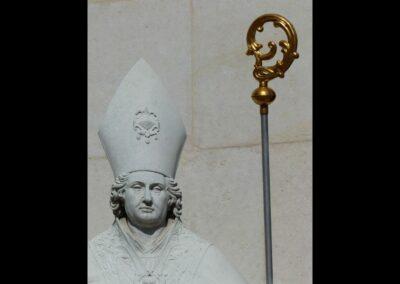 Sbg - Salzburg - Hl. Virgil vor dem Eingang zum Dom