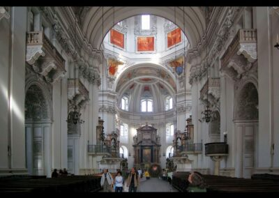 Sbg - Salzburg - Innenansicht des Salzburger Doms