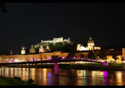 Sbg - Salzburg - Nachtansicht der Stadt 2