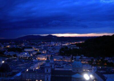 Sbg - Salzburg - Nachtansicht der Stadt
