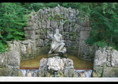 Sbg - Salzburg - Neptunbrunnen, Wasserspiele Schloss Hellbrunn