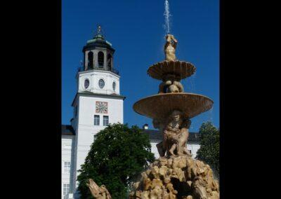 Sbg - Salzburg - Residenzbrunnen am Residenzplatz 3