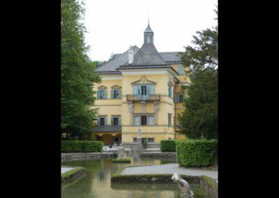 Sbg - Salzburg - Schloss Hellbrunn vom römischen Theater aus
