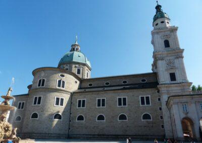Sbg - Salzburg - Seitenansicht des Salzburger Doms