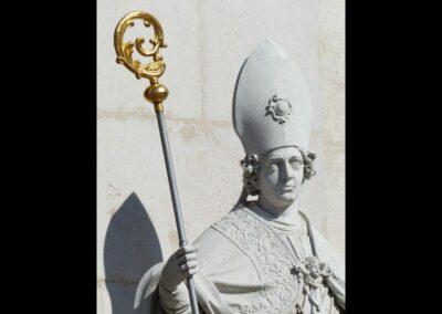 Sbg - Salzburg - St. Vergilius Statue am Salzburger Dom